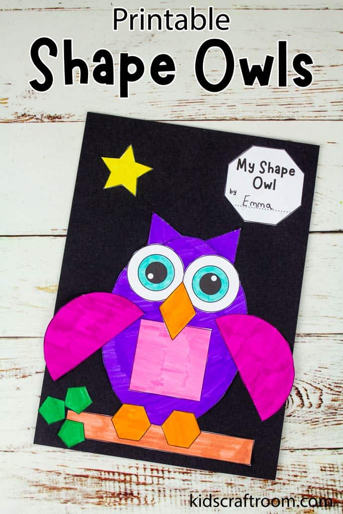 Shape Owl Craft pin 1.