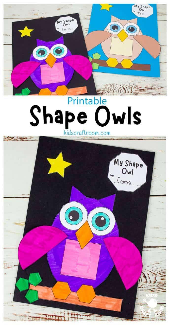 Shape Owl Craft pin 2.