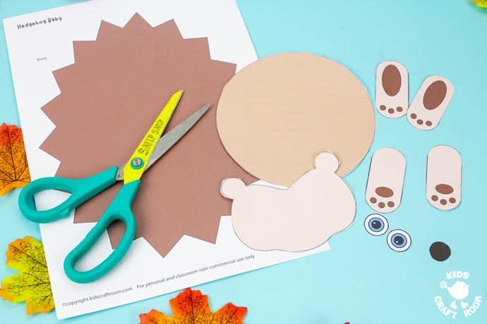 Moving Baby Hedgehog Craft step 1.
