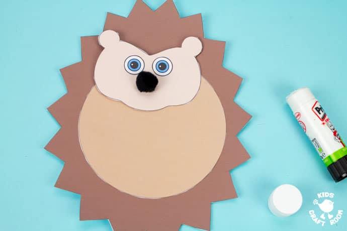 Moving Baby Hedgehog Craft step 5.