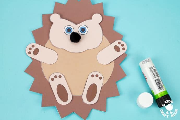 Moving Baby Hedgehog Craft step 7.