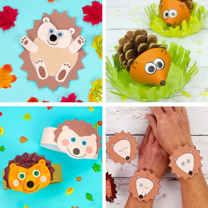 Easy Hedgehog Crafts For Kids 1-4.