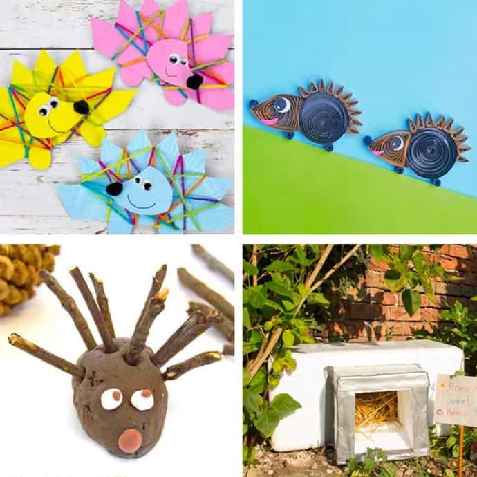 Easy Hedgehog Crafts For Kids 5-8.