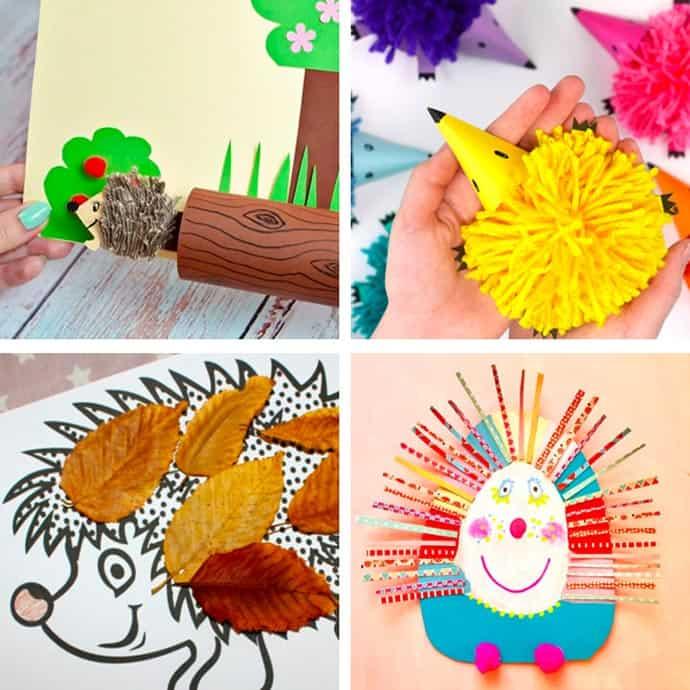 Easy Hedgehog Crafts For Kids 9-12.