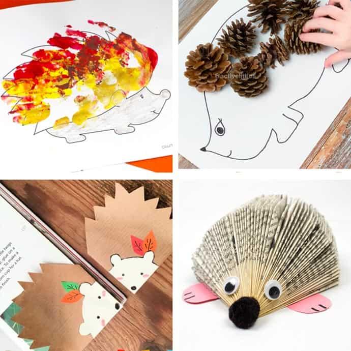 Easy Hedgehog Crafts For Kids 13-16.