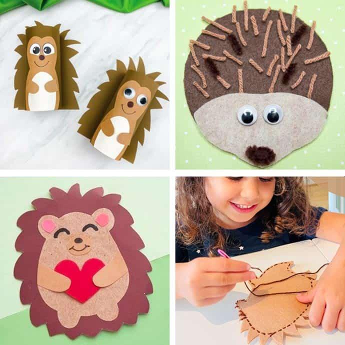 Easy Hedgehog Crafts For Kids 17-20.