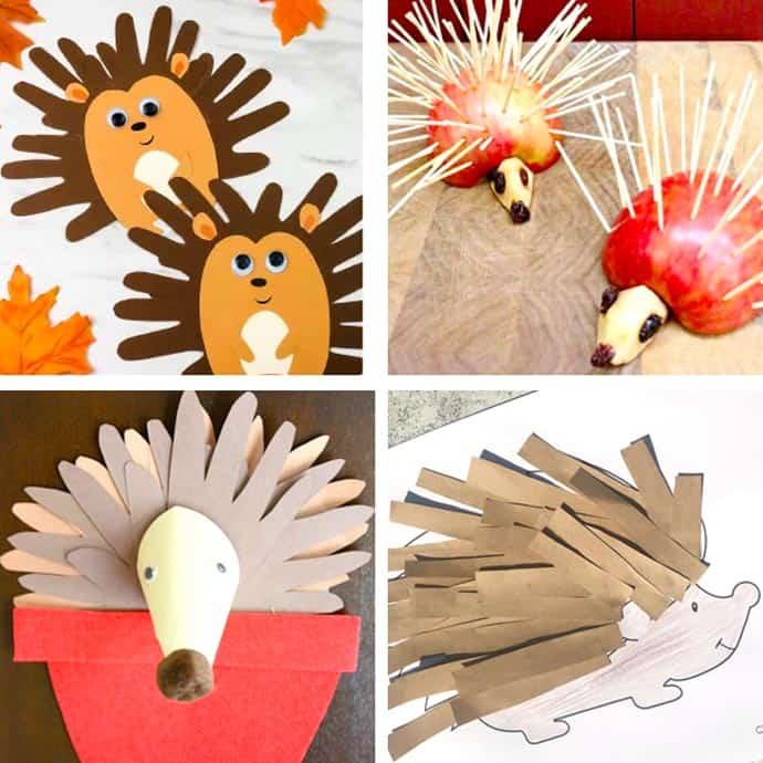 Easy Hedgehog Crafts For Kids 21-24.