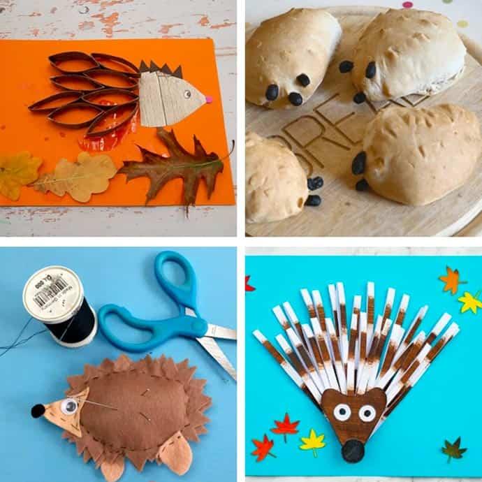 Easy Hedgehog Crafts For Kids 25-28.