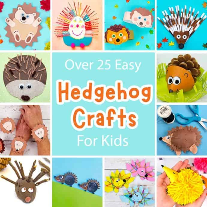 Easy Hedgehog Crafts For Kids square image.