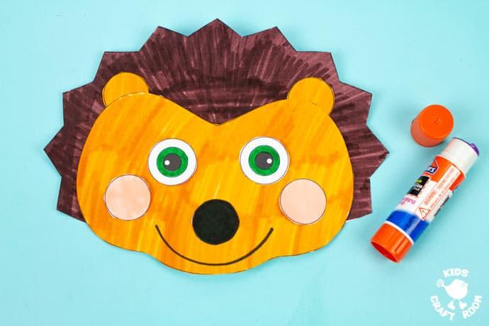 Hedgehog Hat Craft step 6.