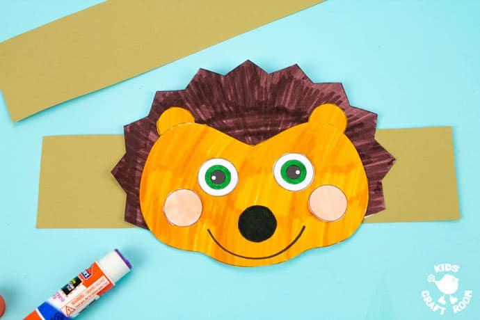 Hedgehog Hat Craft step 7.