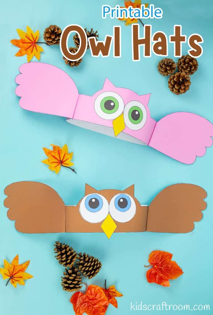 Owl Hat Craft pin image 2.