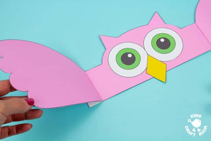 Owl Hat Craft step 7.