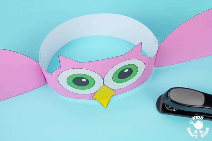 Owl Hat Craft step 8.