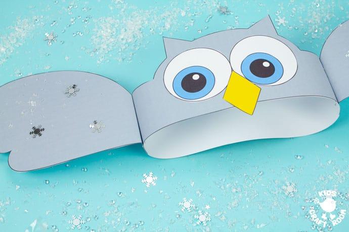 Owl Hat Craft step 9.