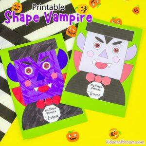Shape Vampire - Math Halloween Craft