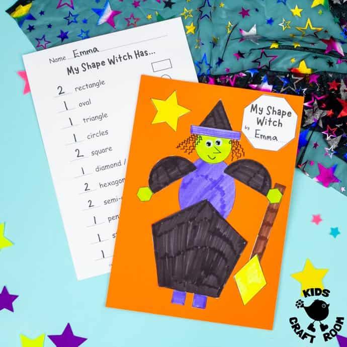 Shape Witch - Math Halloween Craft square image.