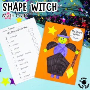 Shape Witch - Math Halloween Craft