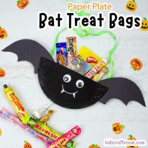 Halloween Bat Treat Bag Craft