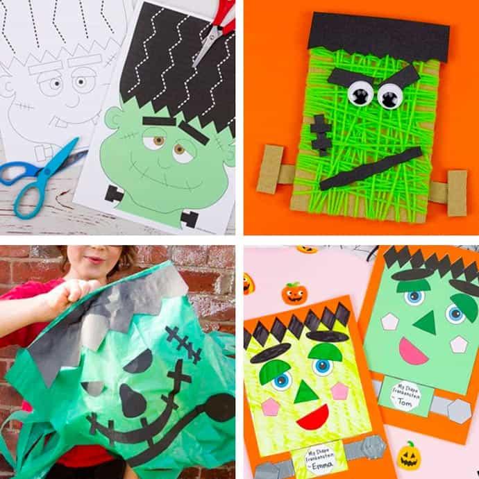 Fun Frankenstein Craft Ideas For Kids 1-4.