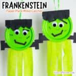 Paper Plate Frankenstein Wind Catcher Craft