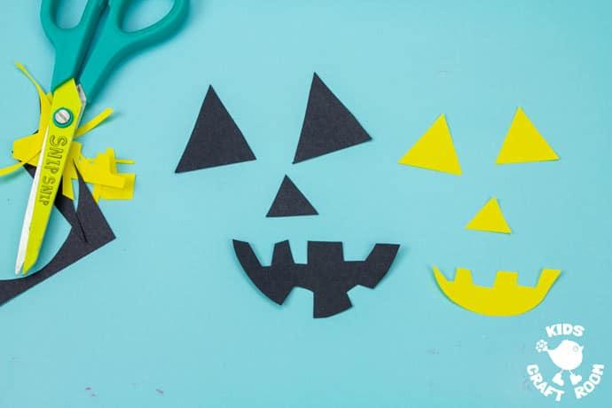 Handprint and Paper Bag Pumpkins step 2.
