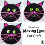 Paper Plate Moving Eyes Cat Craft