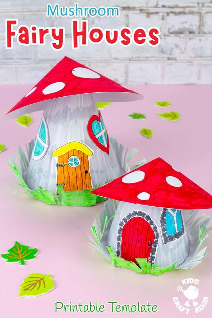 Mushroom Fairy House Craft pin image 2.