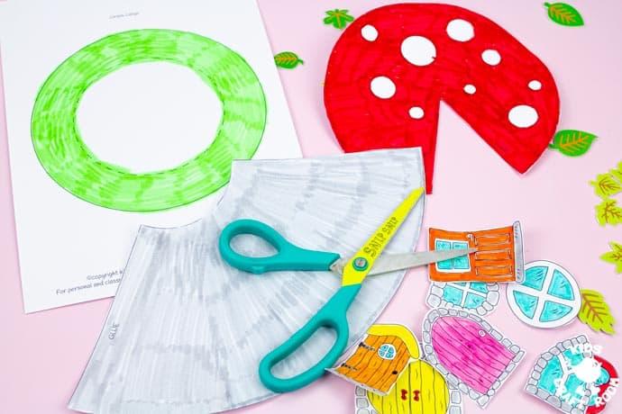 Mushroom Fairy House Craft step 3.