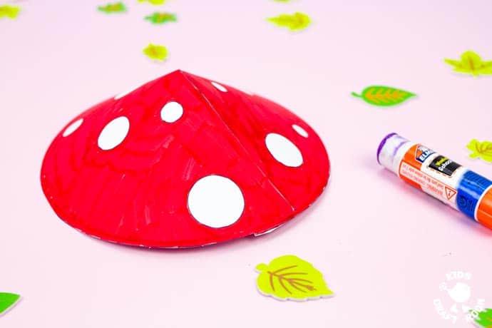 Mushroom Fairy House Craft step 6.