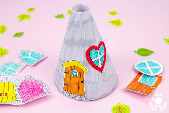 Mushroom Fairy House Craft step 5.