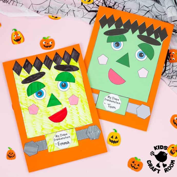 Shape Frankenstein - Math Halloween Craft square image 1.