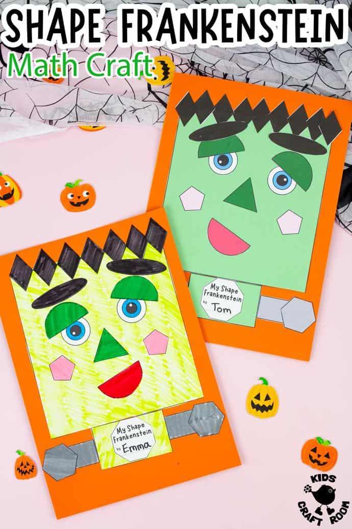 Shape Frankenstein - Math Halloween Craft pin image 2.