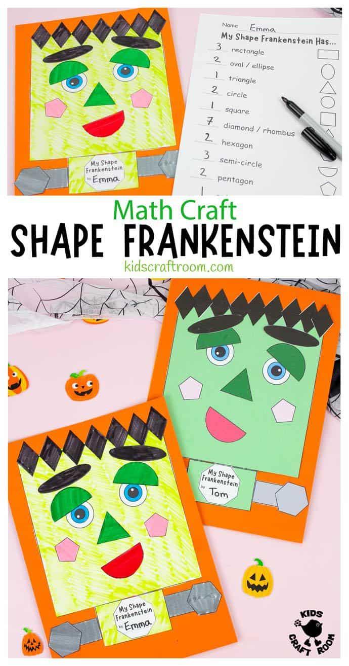 Shape Frankenstein - Math Halloween Craft pin 1.