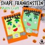 Shape Frankenstein - Math Halloween Craft