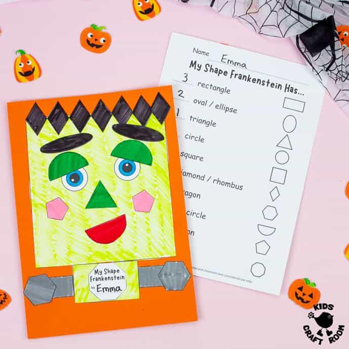 Shape Frankenstein - Math Halloween Craft square image 2.