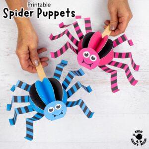 Walking Spider Puppet Craft